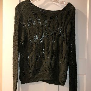 Green american eagle sweater